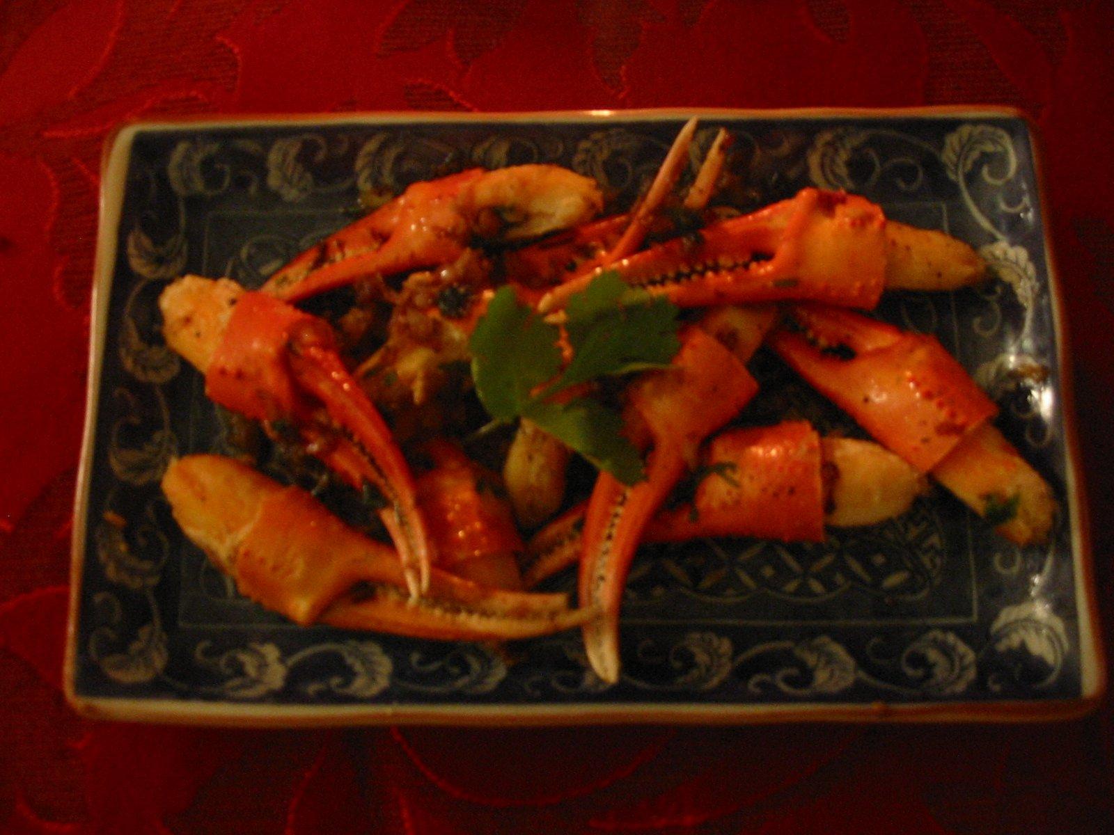 pinces de crabe piment es bonnes choses recettes de cuisine de france et du monde. Black Bedroom Furniture Sets. Home Design Ideas