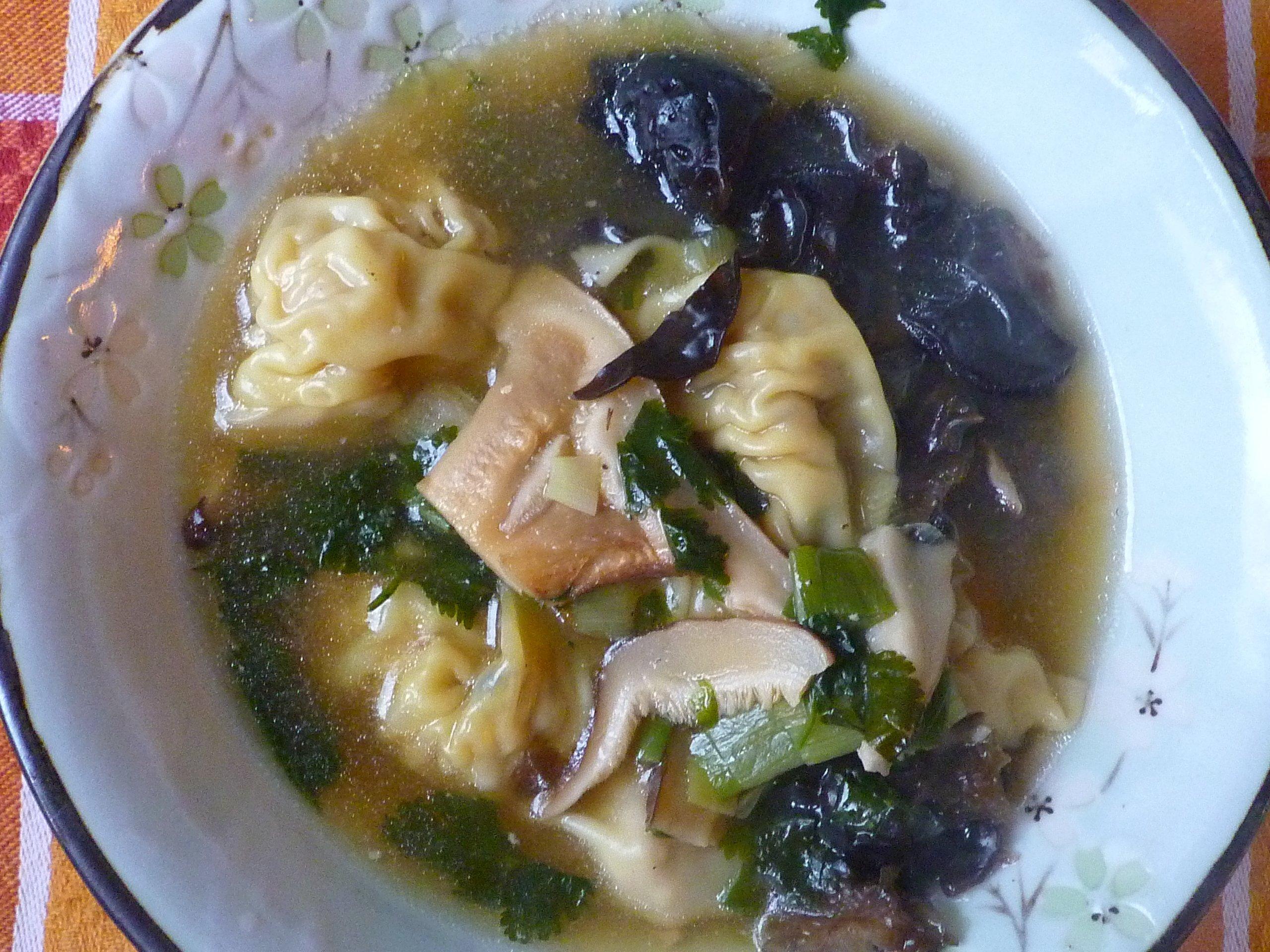 Soupe aux raviolis de porc maison bonnes choses for Acheter un chinois cuisine